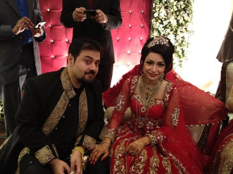 ahmed ali butt in his wedding ceremonypictures reviewitpk