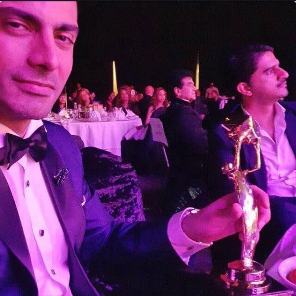 Fawad and the award from across the border