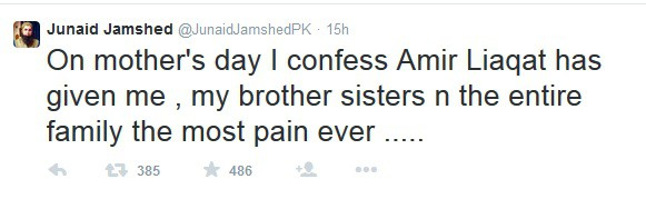 Image result for junaid jamshed tweets on mothers day