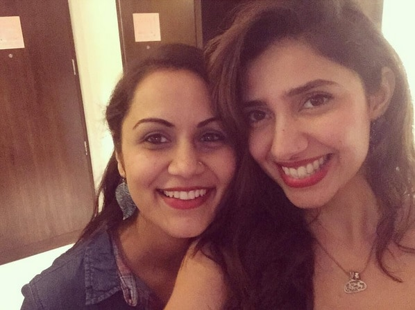 Mahira Khan with her friend Aditi Srivastava