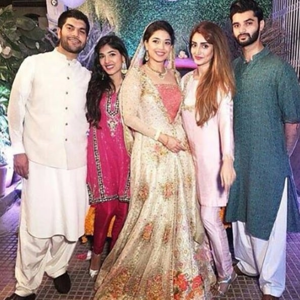 Sanam saeed with her husband