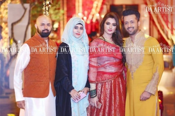 Latest Pictures Of Atif Aslam With His Wife Reviewit Pk