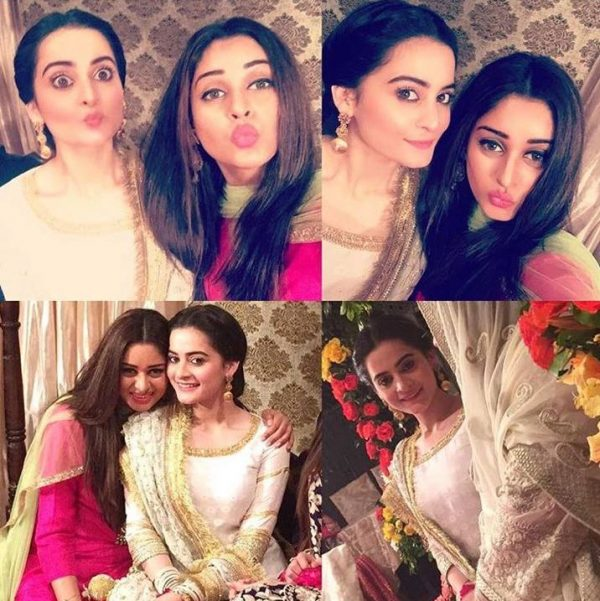 Aiman Khan & Muneeb Butt's Dholki Pictures