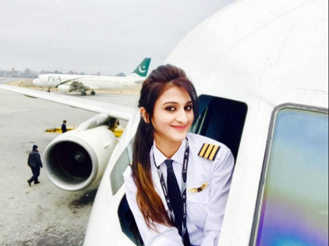 Pictures Of PIA's Female Pilot Go Viral
