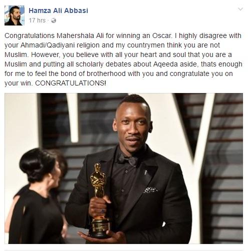 Hamza Ali Abbasi Has A Message For Oscar Winner Mahershala Ali