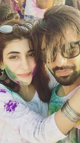 Pakistani Celebrities Playing Holi