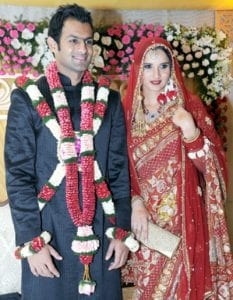 Shoaib and Sania in their marriage ceremony