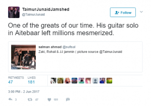 Junaid Jamshed's son shares a rare picture of Aamir Zaki