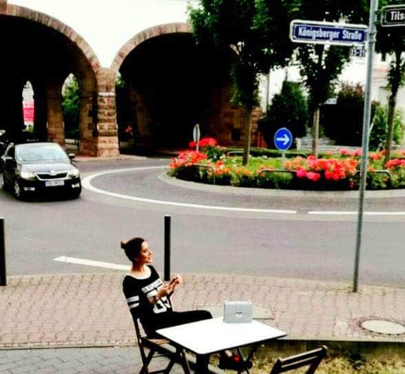 Mehwish Hayat Chilling Out In Germany
