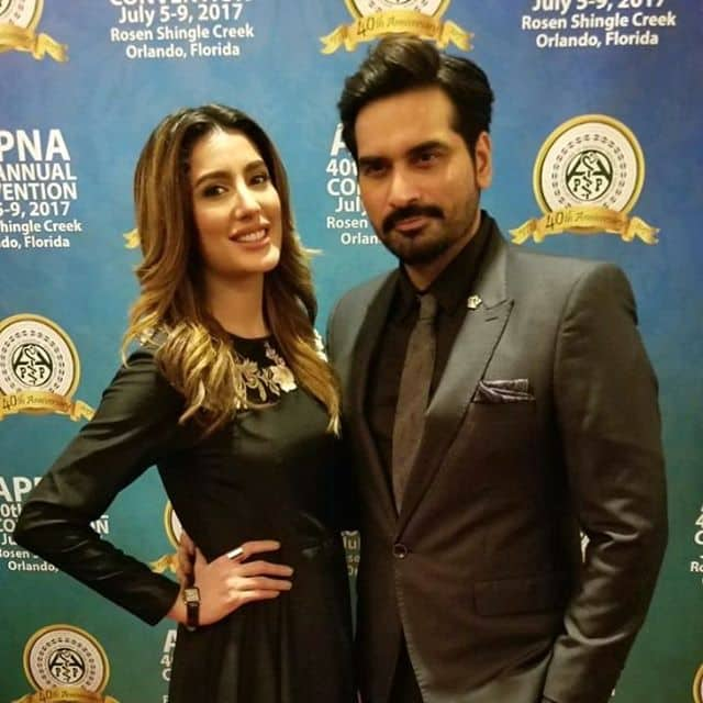 Humayun Saeed And Mehwish Hayat Spotted In Orlando For Their Movie Promotion