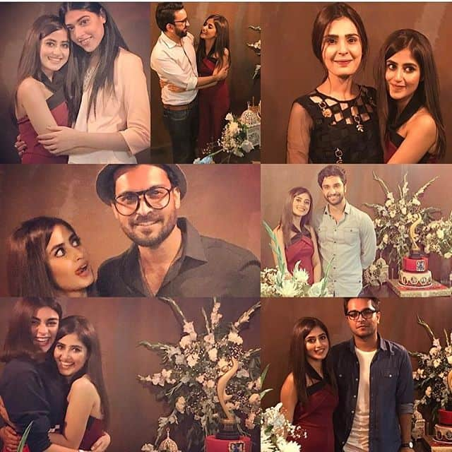 Sajal Ali Celebrates The Success Of Her Debut Bollywood Movie 'Mom' In A Closed Circle