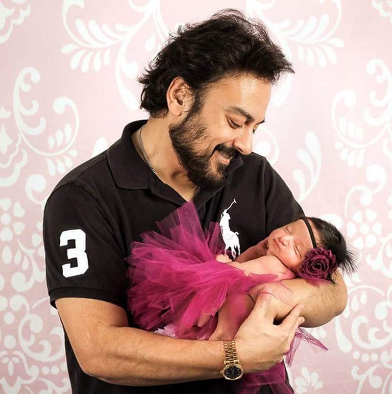 Adnan Sami Introduced His Baby Girl Medina Sami Khan To The World
