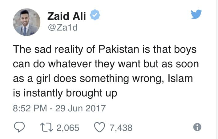 Zaid AliT Speaks Up About Our Society's Double Standards