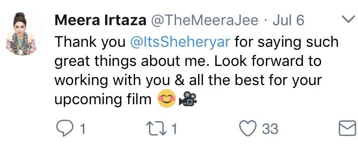 Meera Jee Replies To Shehryar Munawar