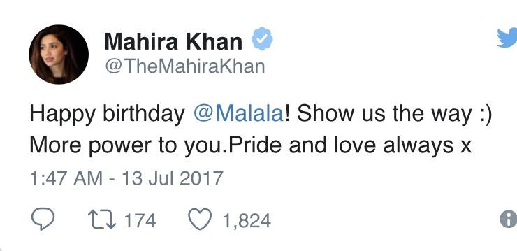 Mahira Khan Wishes Malala On Her Birthday