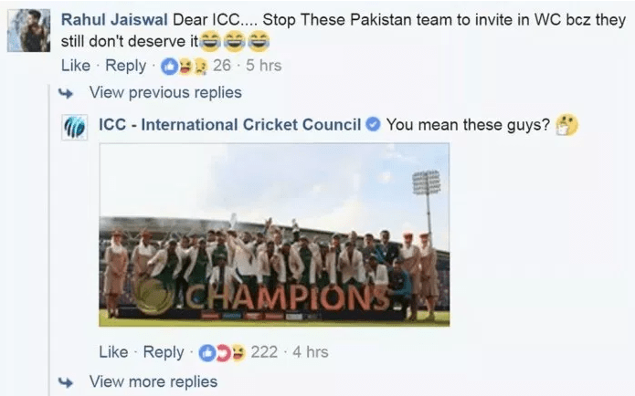 ICC's Sass in Support of Pakistan to Shut Down Haters!