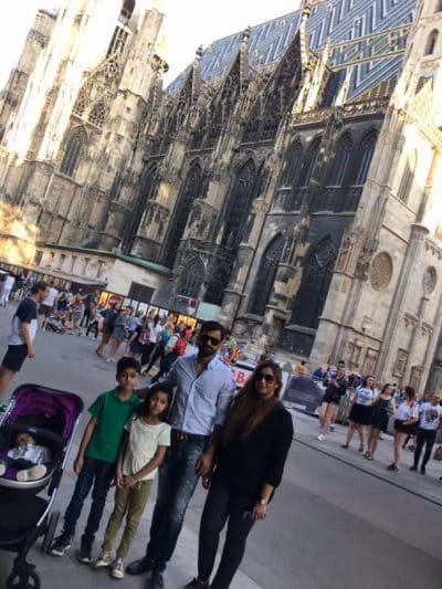 Mohammad Hafeez Exploring Austria With Family