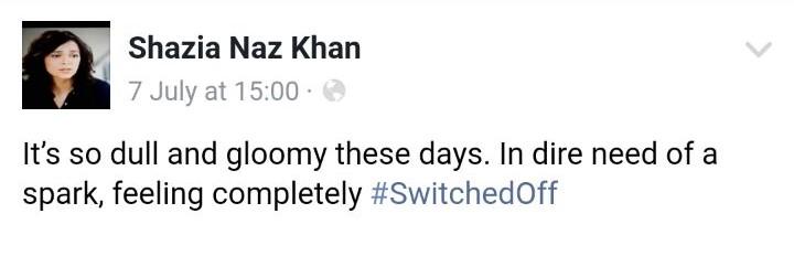 Celebrities Getting #SwitchedOff?