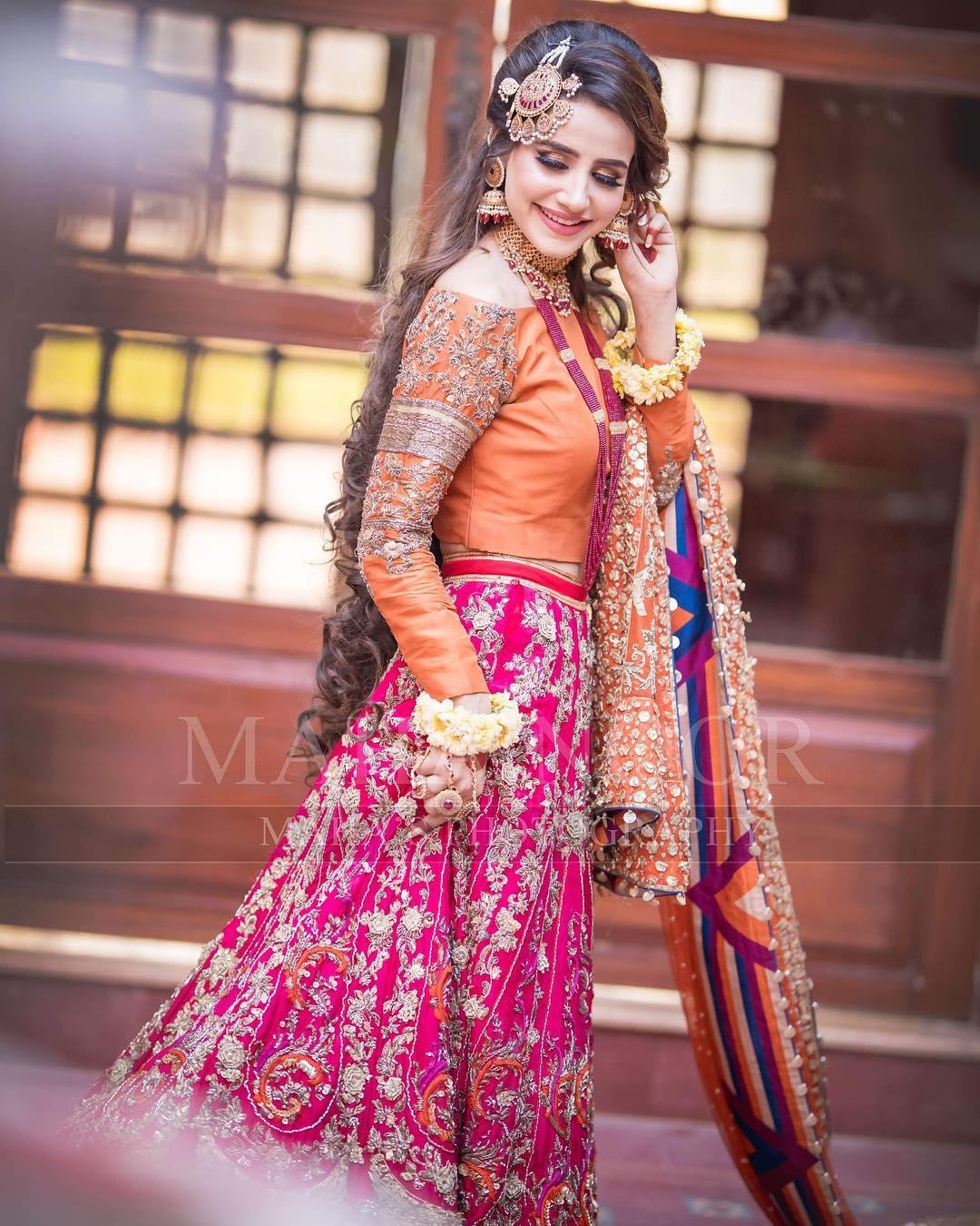 Beautiful Bridal Shoot Of Actress Saniya Shamshad