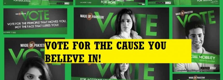 Voting Campaign by Celebrities! – What Cause Do You Support?