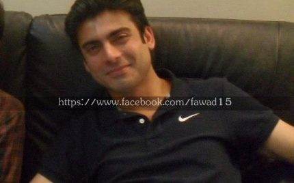 Fawad Khan on the set of Zindagi Gulzar hai!