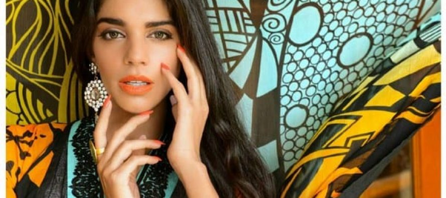 Sanam Saeed Photoshoot and Ad for Warda Saleem Lawn
