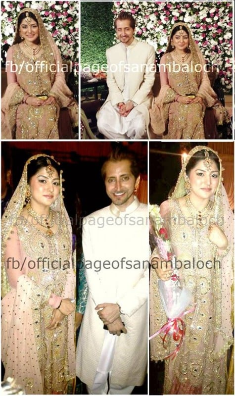 Sanam Baloch and Farhat Abdullah Reception Pictures ...