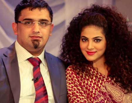 Malik Noureed Awan with annie khalid