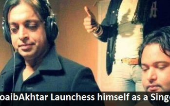 Shoaib Akhtar has chosen to Become a Singer For a Change!