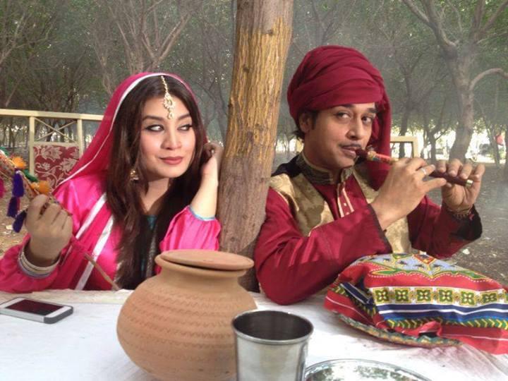 Faysal Qureshi with Sarah Umair