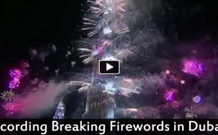 Dubai's record-breaking New Year's fireworks 2014 – Amazing!