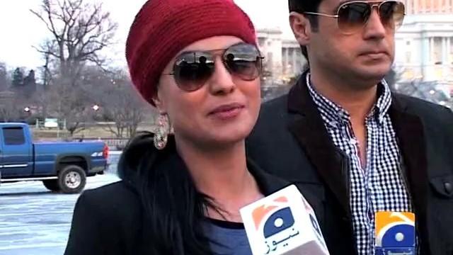 veena malik enjoying her honeymoon in usa with her husband and talking to media 640x360