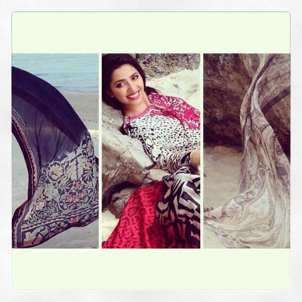 Mahira Khan – brand ambassador for ELAN Lawn for season 2014