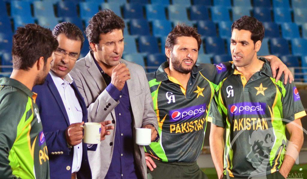 Wasim Akram Waqar Younus Umar Gul Ahmed Shehzad Shahid Afridi ICC WT20 Pepsi TVC 2014