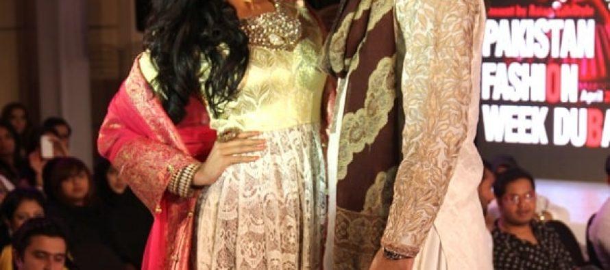 Veena Malik and Husband On The Ramp In PFWD