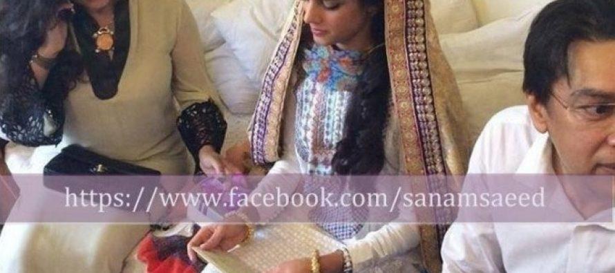 Sanam Saeed Ties The Knot