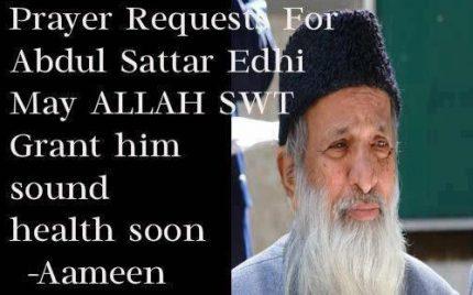 Abdul Sattar Edhi In Critical Condition