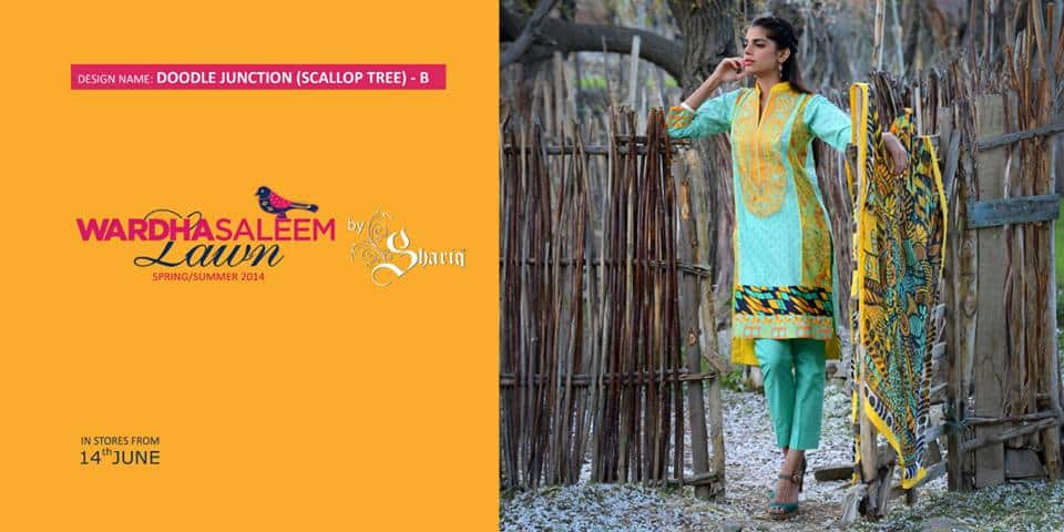 Sanam Saeed, in the summer campaign of a lawn brand