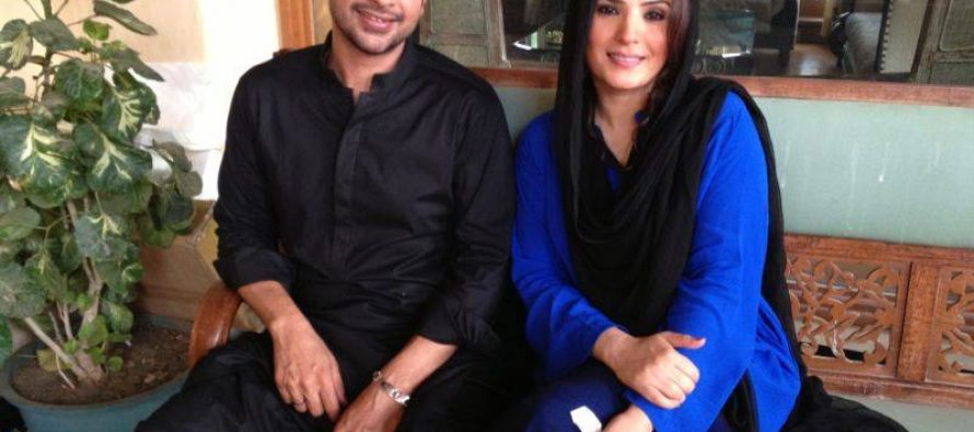 Resham and Faysal Qureshi in an upcoming drama