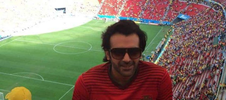 Hassan Ahmed attending Football Worldcup in Brazil