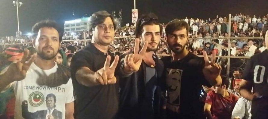 Imran Abbas joins Azaadi March in Islamabad