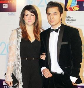 Ali Zafar and wife Ayesha Fazli at Zee Cine Awards 2013 Picture01794645 20131902528