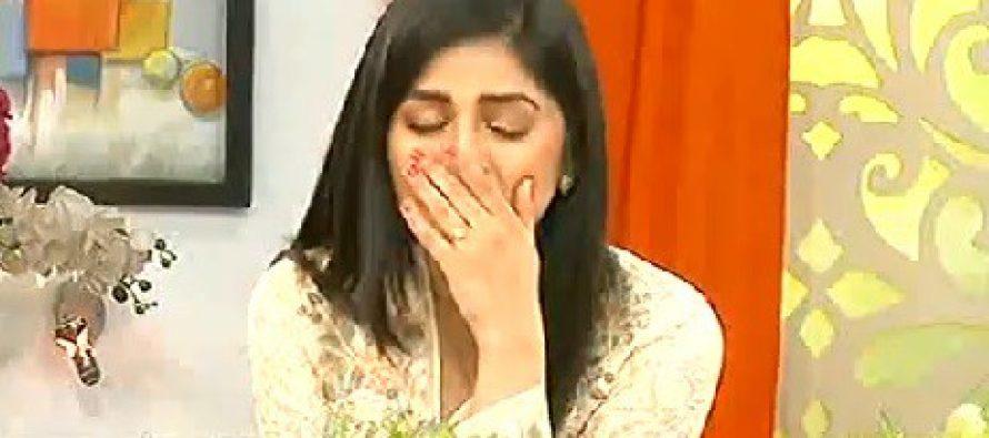 Sanam Baloch Cries During Her Show