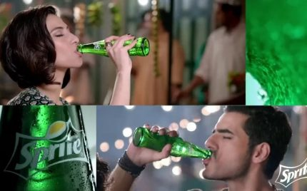 Adeel Hussain Meesha Shafi together in a commercial