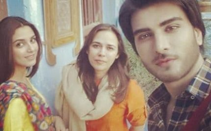 Clicks from shooting of new drama of Khalilur Rehman Qamar and Mehreen Jabbar