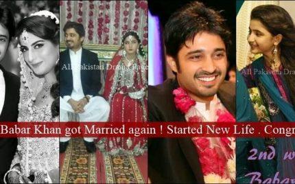 Babar Khan got married again!