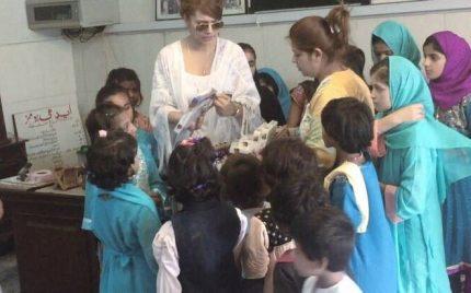Ayyan Ali Celebrates Her Birthday With Children In Edhi Foundation & SOS Village