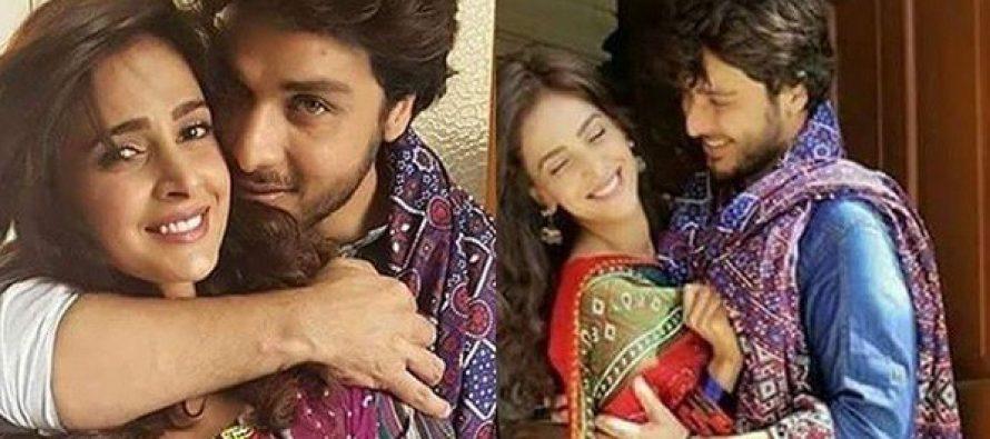 "Ahsan Khan and Saba Qamar On The Sets Of ""Mohabbat Ki Akhri Kahani"""