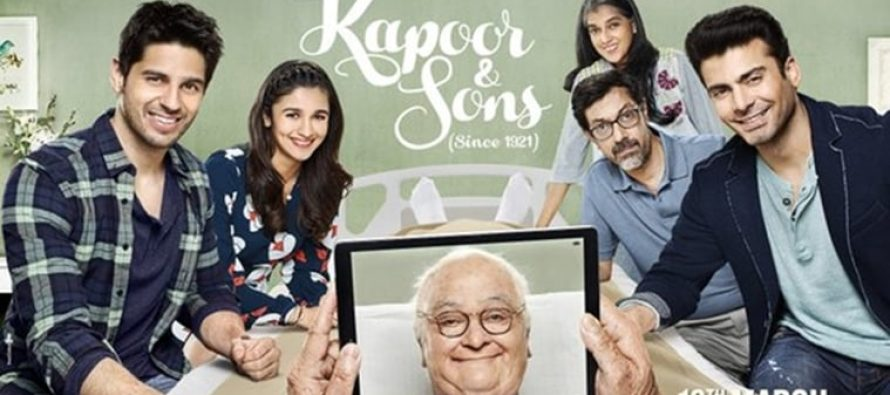 Kapoor & Sons, excellent weekend on Pakistani Box office