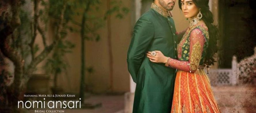 Maya Ali & Junaid Khan's Shoot For Nomi Ansari's Bridal Collection